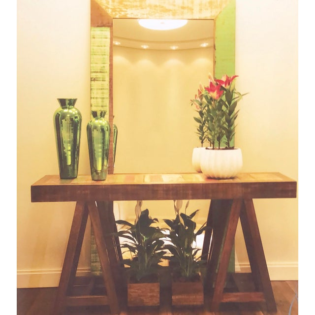 Simple and clean yet full of unique character, this contemporary piece is a hit almost anywhere.This console table has a...