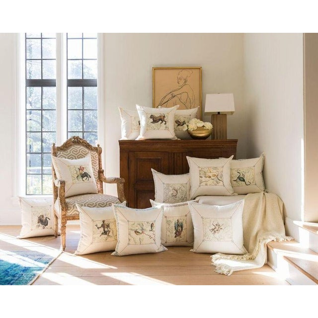Italian Scorpio Pillow For Sale - Image 3 of 4