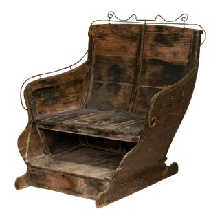 Antique Sleigh Seat Bench For Sale