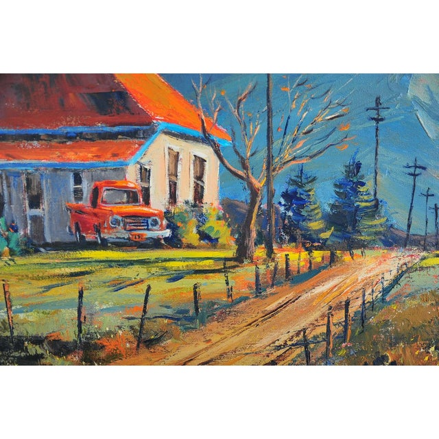 Red Roof Farm House -Oil Painting by Ben Abril - Image 6 of 11