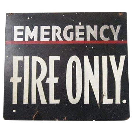 Vintage Emergency Fire Exit Sign - Image 1 of 6