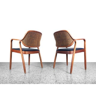 1970s Vintage Don Pettit Bentwood Armchairs for Knoll- A Pair Preview