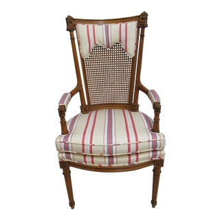 Baker Furniture French Regency Lounge Chair For Sale