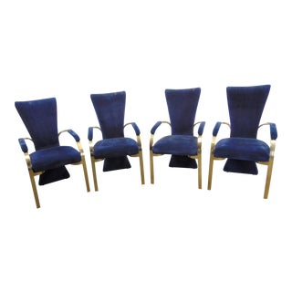 (4) Carson's Modern Design Upholstered Armchairs For Sale