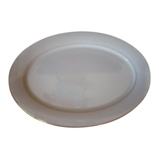 1990s Traditional Hayworth Pattern Lenox Cream Porcelain Platter For Sale