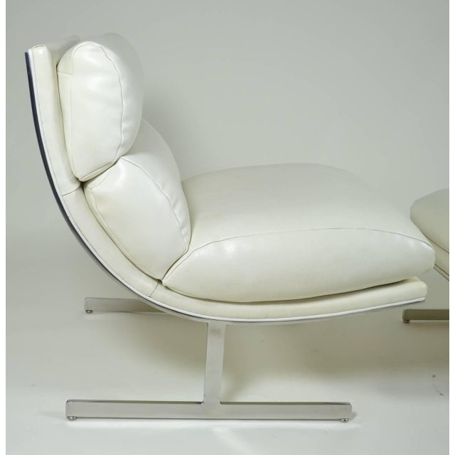 Modern Lounge Chair and Ottoman by Kipp Stewart for Directional, circa 1970 - Image 8 of 10