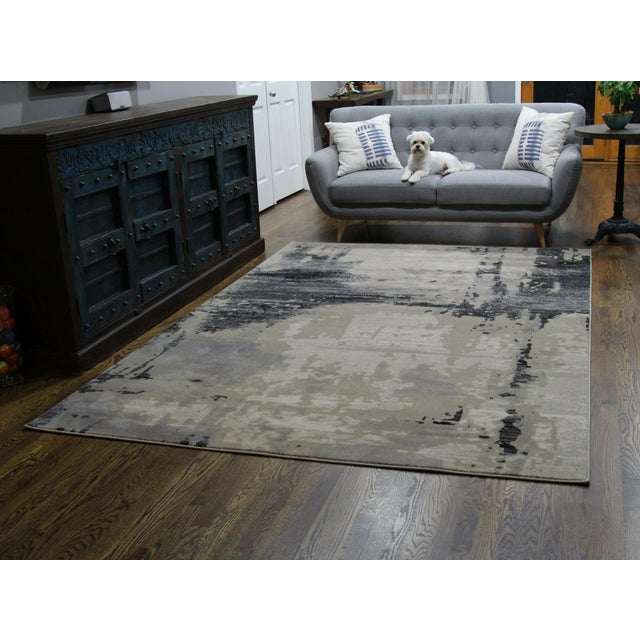 Contemporary Brown Abstract Rug - 8' X 10'7'' - Image 3 of 6