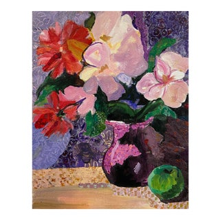 'Still Life, Lilac and Amethyst', American School, 1990s For Sale