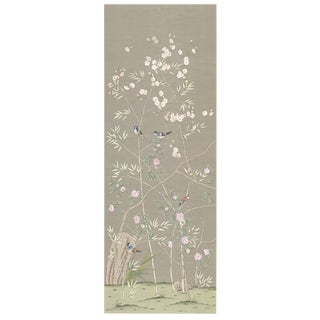 Chinoiserie Parc Bon Aire Hand Painted Panel For Sale