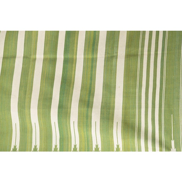 Casa Cosima Rosemary Rug, 9x12, Forest Green & White For Sale - Image 4 of 5