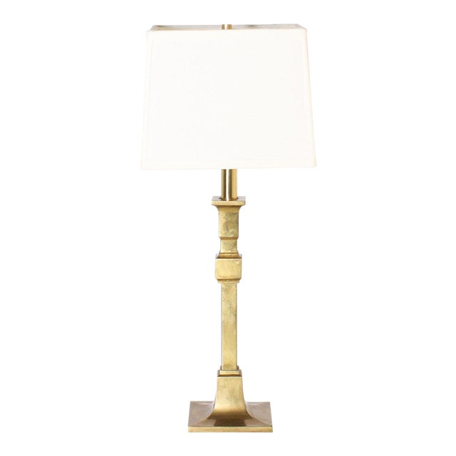 1970s Chapman Brass Table Lamps - a Pair For Sale