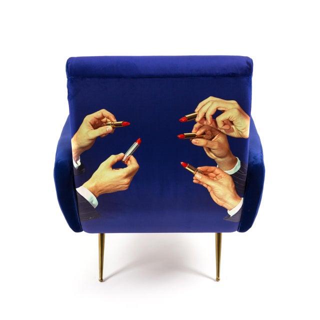 Maurizio Cattelan Seletti, Lipsticks Armchair, Blue, Toiletpaper, 2018 For Sale - Image 4 of 7