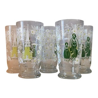 Libbey Co. Vintage Glassware - Set of 5 For Sale