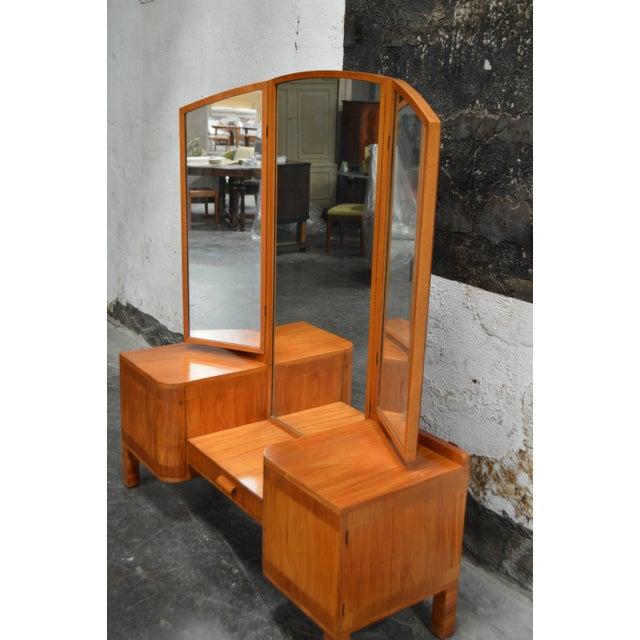 Brown Swedish Art Deco Dressing Table Vanity For Sale - Image 8 of 11
