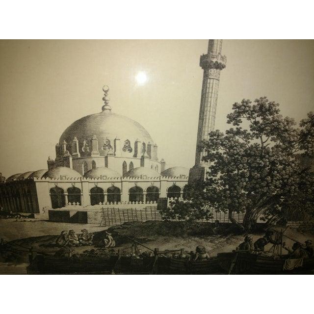 "Antique Paris ""Egyptian Mosque"" Engraving Print For Sale In Sacramento - Image 6 of 13"