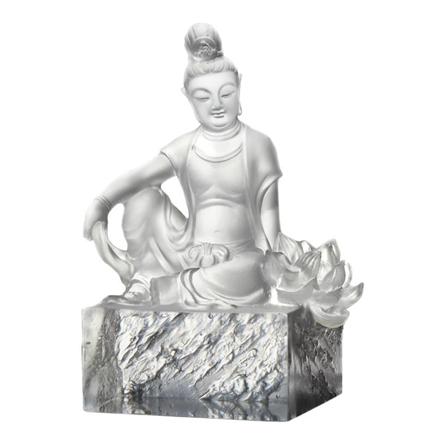 Liuli Crystal Art Crystal Guanyin (Limited Edition) For Sale