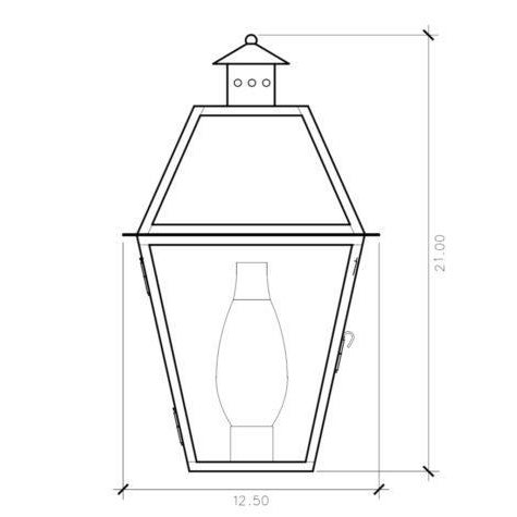 The CH-32 E wall mount lantern is from the Charleston Collection, Lantern & Scroll's most popular style. This lantern...