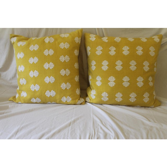 These are amazing pillows,they outer shell is 100% cotton very heavy weave with embroidered bows, simply precious. These...