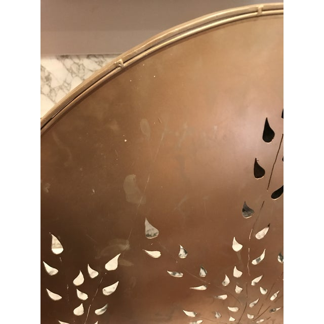 1960s Vintage Mid-Century Modern Metal Arched Gold Fireplace Screen For Sale - Image 5 of 7