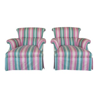 Hickory Chair Hollywood Regency Club Chairs - A Pair For Sale