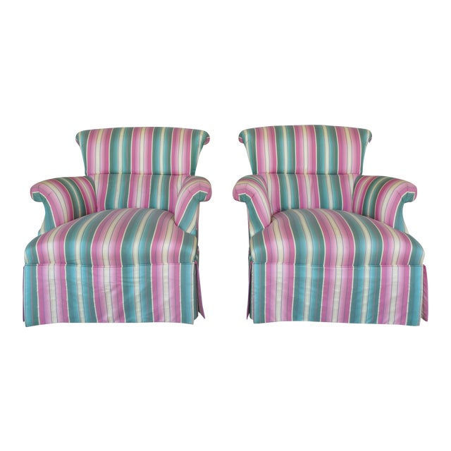 Hickory Chair Hollywood Regency Club Chairs - A Pair - Image 1 of 10