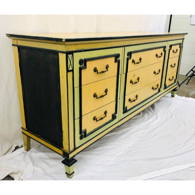 Widdicomb Vintage Painted Credenza Dresser For Sale - Image 4 of 12