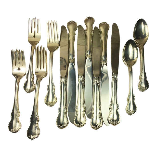 Towle French Provincial Sterling Silver Service for Eight - 32 Pieces For Sale