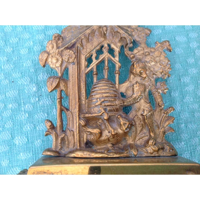Antique English Solid Brass Mantel Decoration For Sale - Image 4 of 5