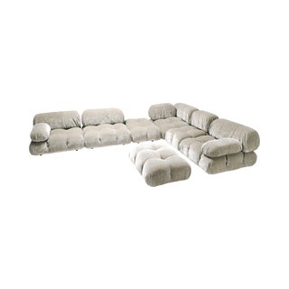 Velvet Sectional Sofa Model 'Camaleonda' by Mario Bellini For Sale