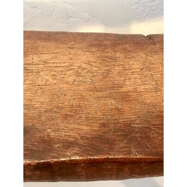 Antique Primitive Live Edge Coffee Table For Sale - Image 10 of 11