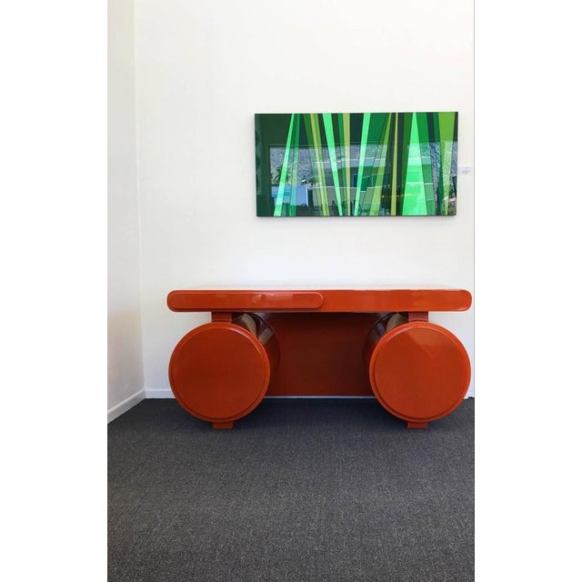 High Gloss Lacquered Scuptural Desk from the 1960s For Sale - Image 9 of 9