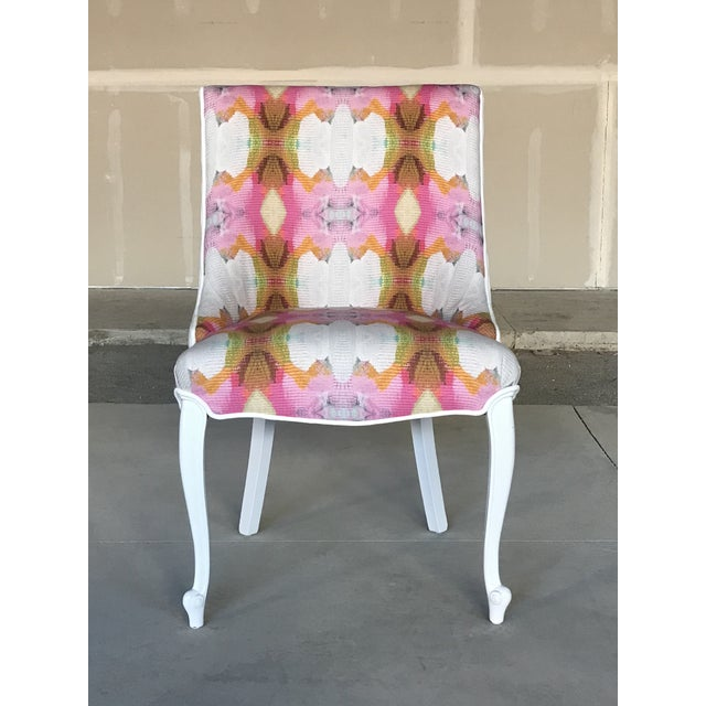 Hollywood Regency 20th Century Dining Armless Side Chairs Scroll Foot Cabriole Leg Drexel Touraine - Set of 6 For Sale - Image 3 of 13