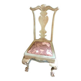 Carved Accent Spanish Chair For Sale
