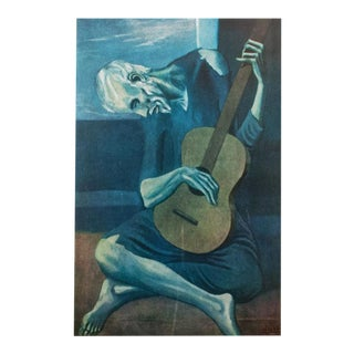 "1950s Picasso, Original ""The Old Guitarist"" Period Lithograph For Sale"