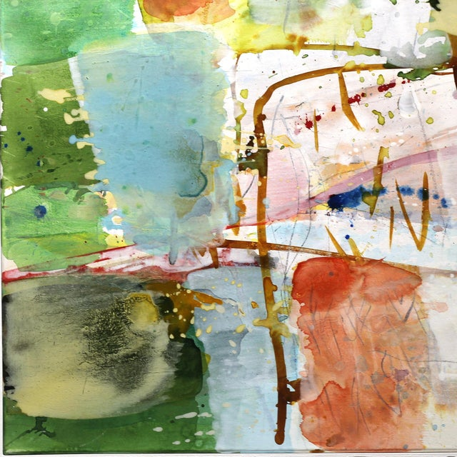 """Abstract Abstract Original """"View"""" Artwork by Greet Helsen For Sale - Image 3 of 10"""