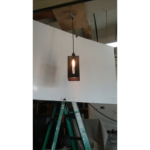 Mission Lantern Pendant Light For Sale - Image 4 of 5