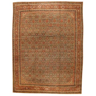 Exceptional Antique Fereghen Carpet For Sale