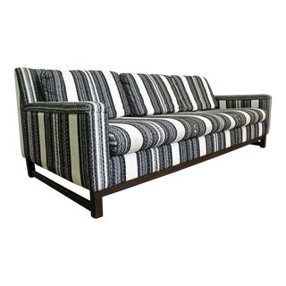 Mid-Century Danish Modern Striped 3-Seater Selig Imerial Sofa For Sale