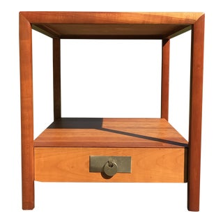 Mid Century Modern Michael Taylor for Baker Furniture Cherry Side Table For Sale