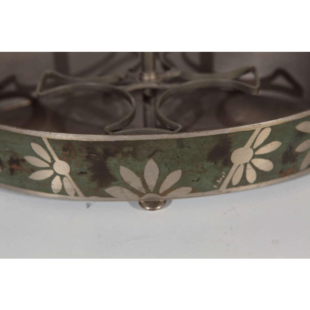 Dark Green Dinanderie Cocktail Caddy For Sale - Image 8 of 10