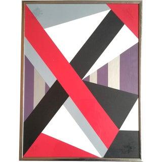 Original Hard Edge Geometric Modern Painting For Sale
