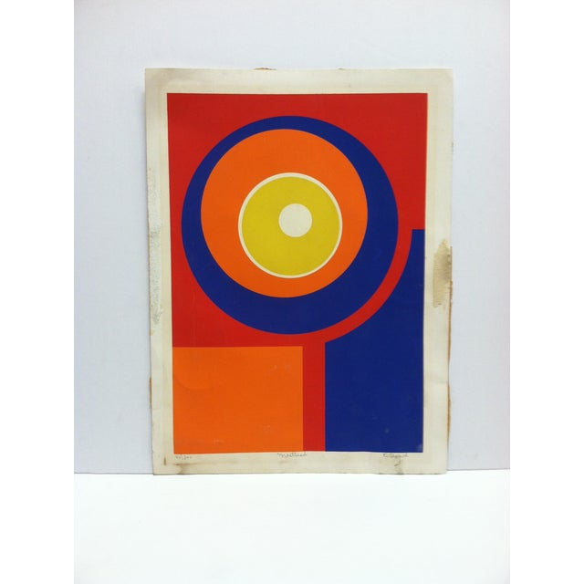 """Red Late 20th Century """"Masthead"""" C. Lenard Limited Edition Signed & Numbered Print For Sale - Image 8 of 8"""