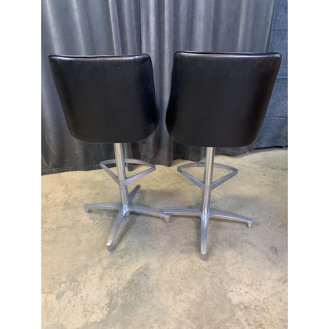 Black 1960s Chromcraft Sculptura Swivel Stools - a Pair For Sale - Image 8 of 13