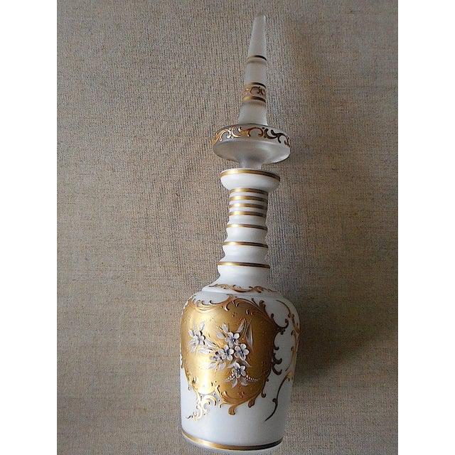 Vintage Cased Glass & 24K Gold Trim Decanter - Image 2 of 8