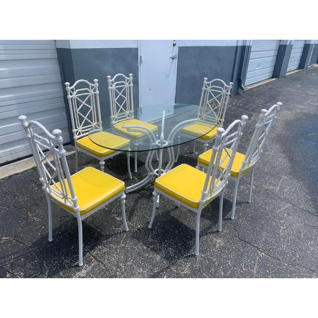Vintage Kessler Chinoiserie Faux Bamboo Dining Set - 7 Pieces For Sale - Image 13 of 13