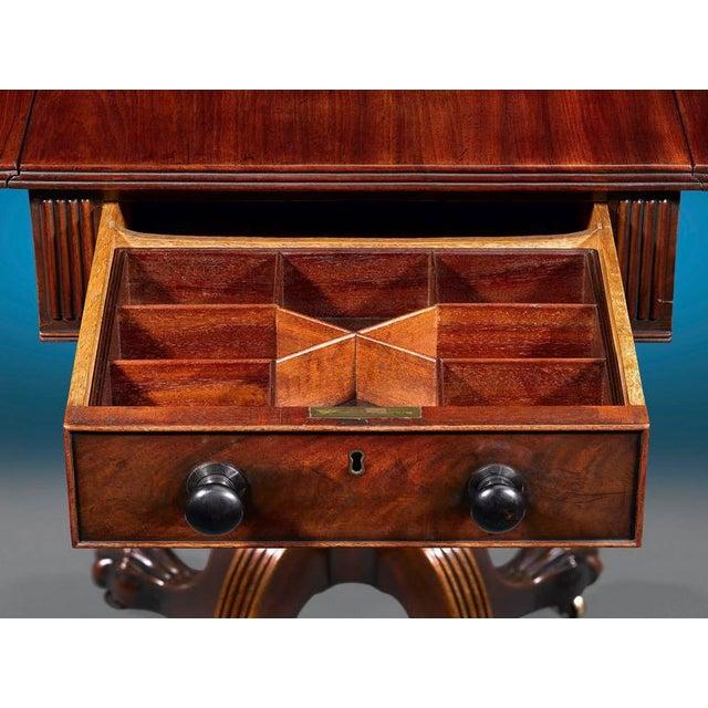 Hollywood Regency Regency-Period Pembroke Table For Sale - Image 3 of 6