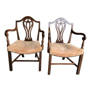 19th Century Vintage English Armchairs- A Pair For Sale