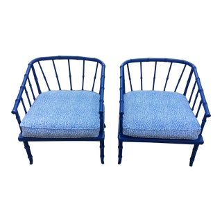 1960s Vintage Bamboo Chairs- A Pair For Sale