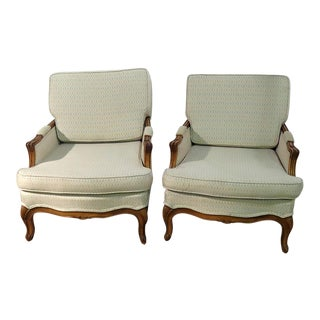 Late 20th Century Country French Bergeres- A Pair For Sale