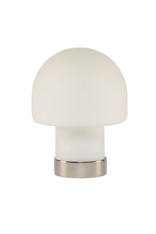 FROSTED MUSHROOM ACCENT LAMP BY LAUREL